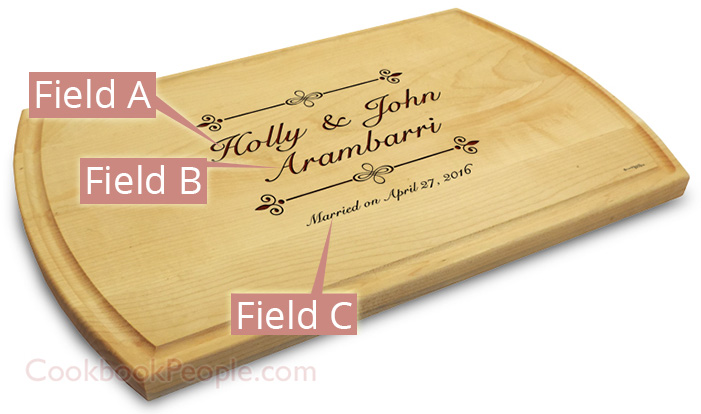 10x16 Chopping Board Engraved
