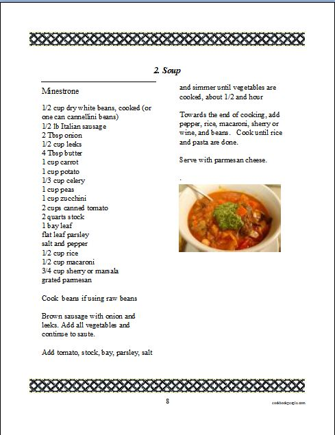 Cookbook Software For Making And Printing A Family Recipe Book - Writing a cookbook template
