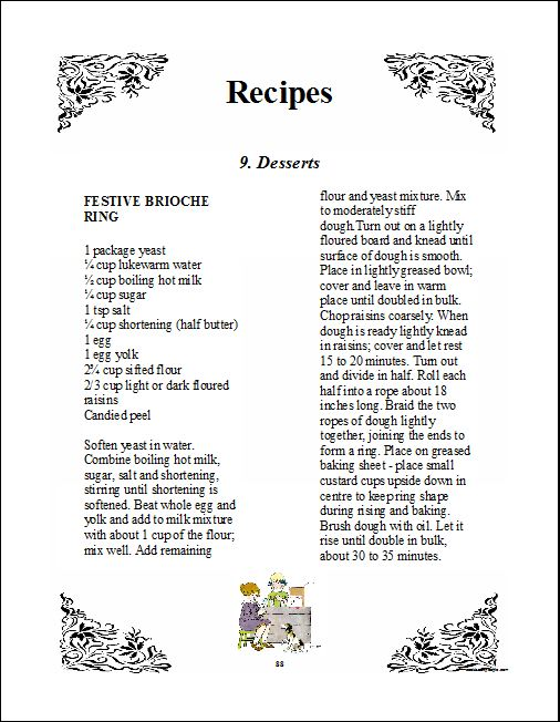 cookbook software for making printing a family recipe book