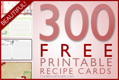 Free Printable Recipe Cards - Gift registry card template free
