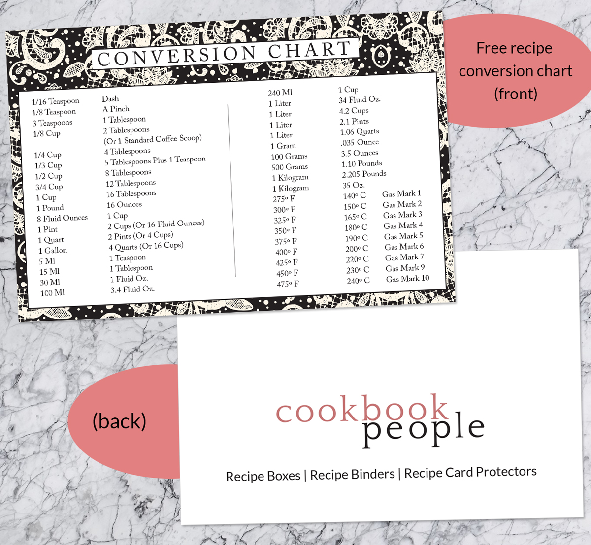 Black checkers index card or gift card or elegant recipe card includes free recipe conversion chart conversionchartcomp2g nvjuhfo Image collections